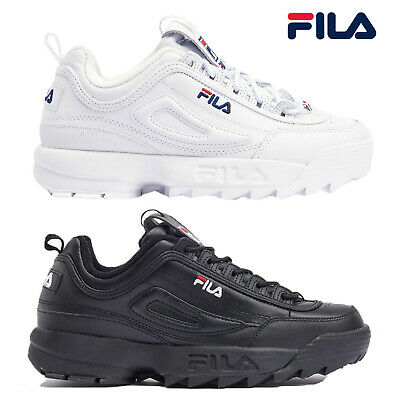 Fila Unisex Disruptor II Premium Trainers Chunky Leather Athletic Sneaker Shoes