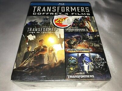 TRANSFORMERS Coffret 1 2 3 4 Films Blu-Ray - NEUF sous Blister VF FR RARE France