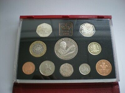 1998 Royal Mint Executive Proof Coin Set (10) Cased With COA 21st Birthday Year
