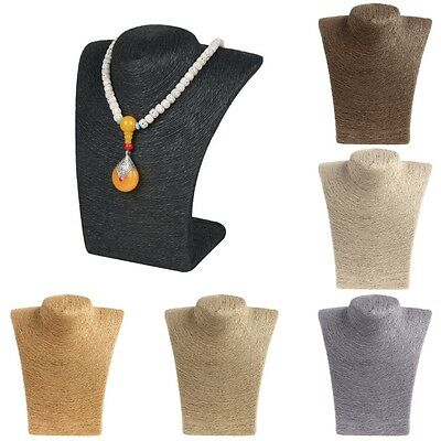 2pcs Mannequin Bust Jewelry Necklace Pendant Neck Model Stand Holder Display