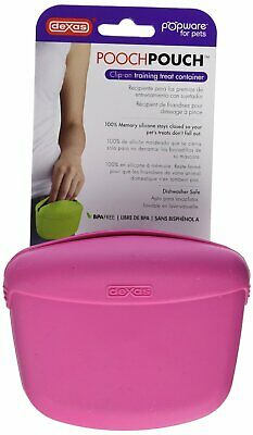 Dexas Popware for Pets Pooch Pouch Pink | Memory Silicone | For Dogs