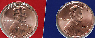 2011P y D Lincoln Cent 2-Coin US Mint Set UNC Blister Pack One Cent Penny