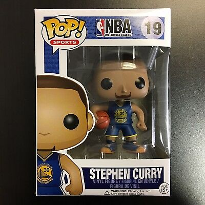 Funko POP NBA Stephen Curry Blue Jersey Away Mint Box