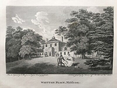1794 Antique Print; Whitton Place, Twickenham, Middlesex, London after Corbould