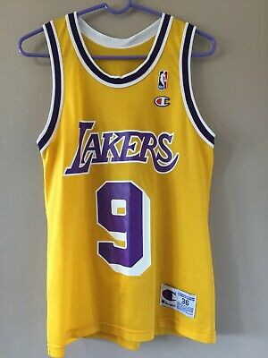 639d4c7adc8 NBA Replica Nick Van Exel Los Angeles Lakers Jersey Champion Home Gold 36  Small