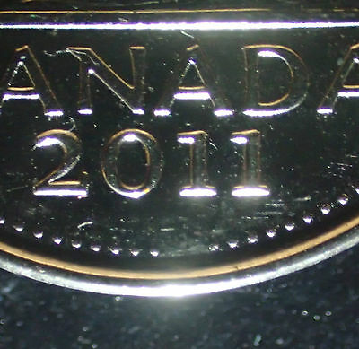 2011 Canada 5 cents Nickel Missing Beads on Reverse