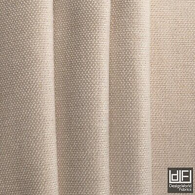 Designer Linen look Curtain Fabric heavy Plain Soft Upholstery Cushion Material