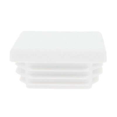 10 Pack Square Tube Inserts 50mm x 50mm, White, Box Section Caps, Tube End Caps