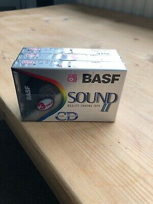X3 c90 BASF Chrome Super Quality II audio cassette Tape Unopened New