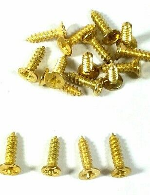Small Screws Brassed Countersunk 8mm Jewellery Box Hinge Dolls House Multi List