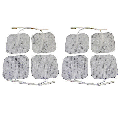 8 Clear Square Adhesive Electrode Tens machine pads High Quality Pain Relief Pad