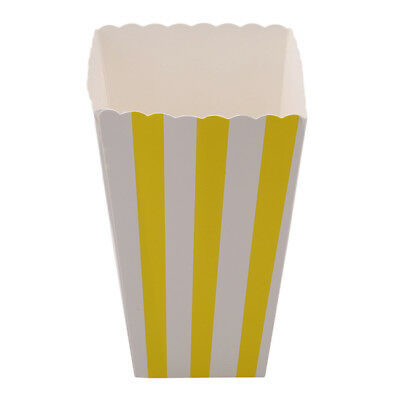Multi Color Striped Popcorn Boxes Cardboard Sweets Candy Snacks Cakes 7N