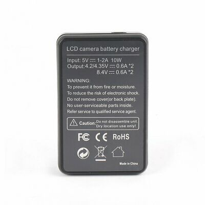 Smart Dual USB AHDBT-501 Battery Charger with LCD Display For Gopro Hero 5 WE