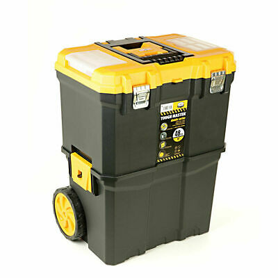 """Tool Chest Tough Master Professional 19"""" Mobile Storage Box Trolley with Wheels"""