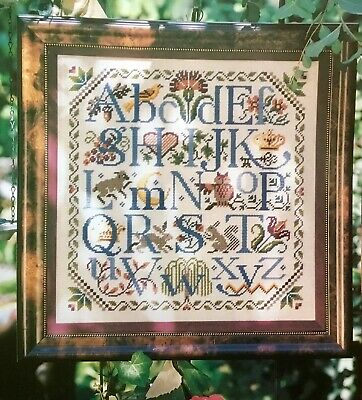 Colonial Alphabet Tapestry Needlepoint Colour Chart Pattern - Donna Kooler
