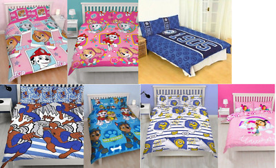 Kids Disney Cartoon TV Character - Double Duvet Cover & Pillow Case Bedding Set
