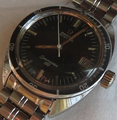 Omega Seamaster 120 diver mens wristwatch steel case ref. 166.027 automatic date