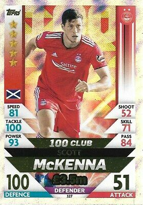 Match Attax Spfl 2018/19 Hundred 100 Club Scott Mckenna Aberdeen