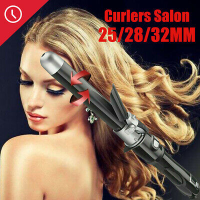 Black 360 degree automatic rotating curling iron Professional Hot