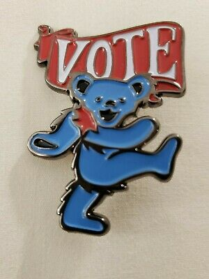 Grateful Dead & Company Dancing Bear Vote Pin  Numbered Limited  Headcount