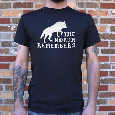 The North Remembers Men's T-Shirt | Game of Thrones Inspired | Dire Wolf | Stark