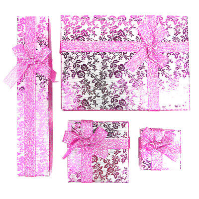 4 x Jewellery GIFT BOXES For Earring Bracelet Ring Necklace Watch Wedding Favour