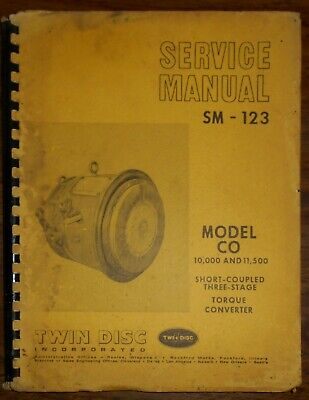 1976 Twin Disc Incorporated Service Manual SM-123 Model 10,000 & 11,500 Torque