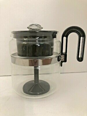 Vintage Gemco Glass Percolator 4-8 Cup Coffee Pot