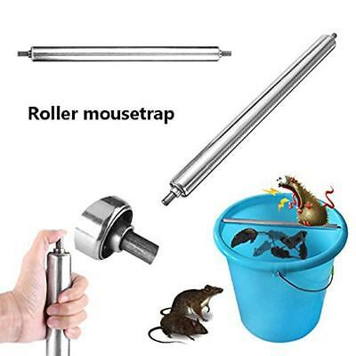 Pest Rats Stick Rodent Mice Log Rolling Spin Mousetrap Mouse Trap Bucket 7N