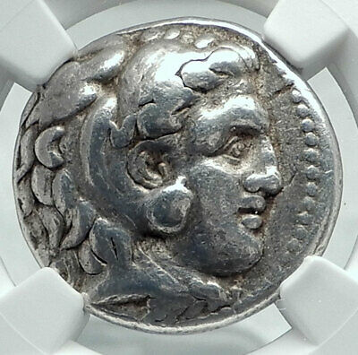 ALEXANDER III the Great Silver TETRADRACHM of SELEUKOS I Greek Coin NGC i78441
