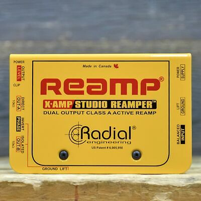 Radial Engineering X-Amp 2-Channel Active Studio Re-Amping Device w/ AC Adaptor
