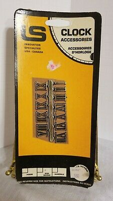 Vintage Clock Parts Numbers Roman Numerals Innovation Specialties Gold Tone