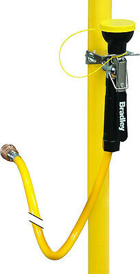 Bradley S19-430A Thermoplastic Drench Hand Held Hose Spray, Wall Mount, Yellow