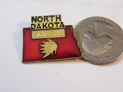 State Map Travel Pin North Dakota Sioux State