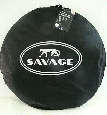*** Savage Infinity Collapsible Disc/Reversible Background (5 x 6', Black/White)