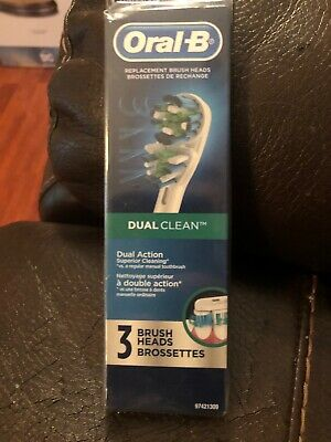Oral B Precision Clean Replacement 3 Brush Heads New NIP Free Shipping