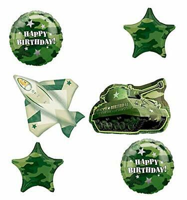 Army Tank Camouflage Party Supplies Birthday Balloon Bouquet