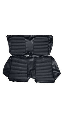 1966 Mustang Convertible Rear Seat Upholstery set in Black OEM correct match