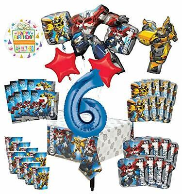 Transformers 6th Birthday Party Supplies 8 Guest Decoration Kit and Balloon B...