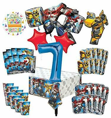 Transformers 7th Birthday Party Supplies 8 Guest Decoration Kit and Balloon B...