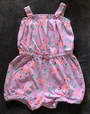 Girl Size 4T Baby Gap Romper With Fish, Shorts,  4 Year Old Summer Outfit. Pink