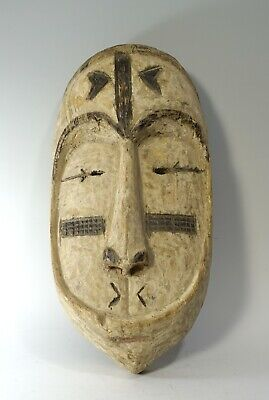 Rare Antique 20th Century Carved Wood Fang African Tribal Ceremonial Mask Gabon