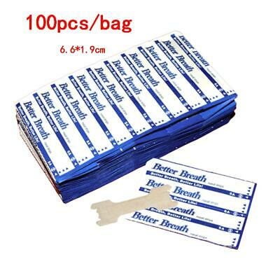 100/Bag 6.6*1.9CM Ventilated Nose Strip For Relieving Snoring Breath Nasal Strip