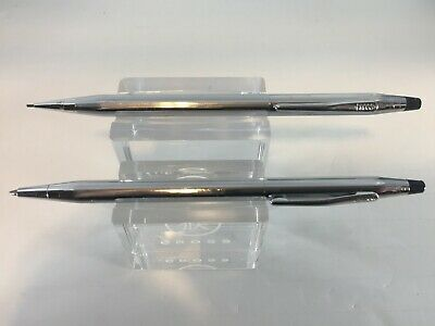 Cross Classic Century Lustrous Chrome Ballpoint Pen & Mechanical Pencil Usa