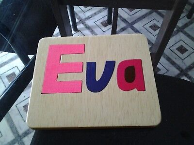 Hand Made  Wooden Personalized Name Puzzles