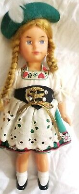 "Antique German SWEETHEART Mechanical Wind-Up  Doll With Key  7""  Vintage"