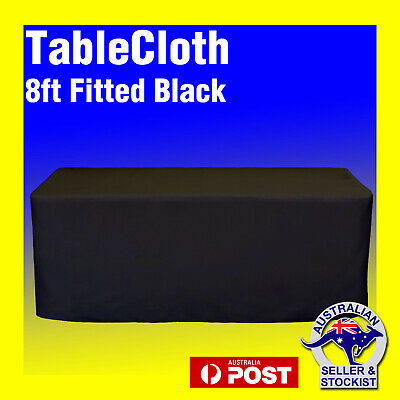 Tablecloths Wedding FITTED Rectangle Table Cloths 8ft Black Event Market Trestle