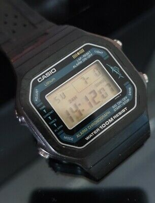 545d829cd47b 2X VINTAGE CASIO Digital Watches W 78 W 725 All Original Running ...