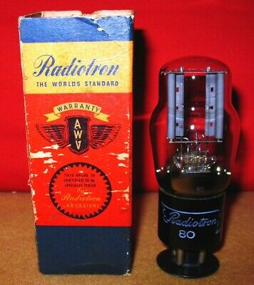 Type 80 Valve / Tube .. AWV Radiotron  1930's NOS .. Price each.