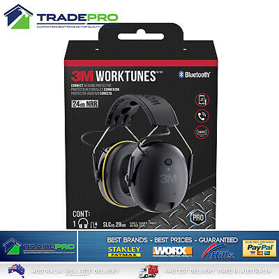 3M Worktunes Ear Muff Call Connect Bluetooth Wireless Hearing Protector Earmuff